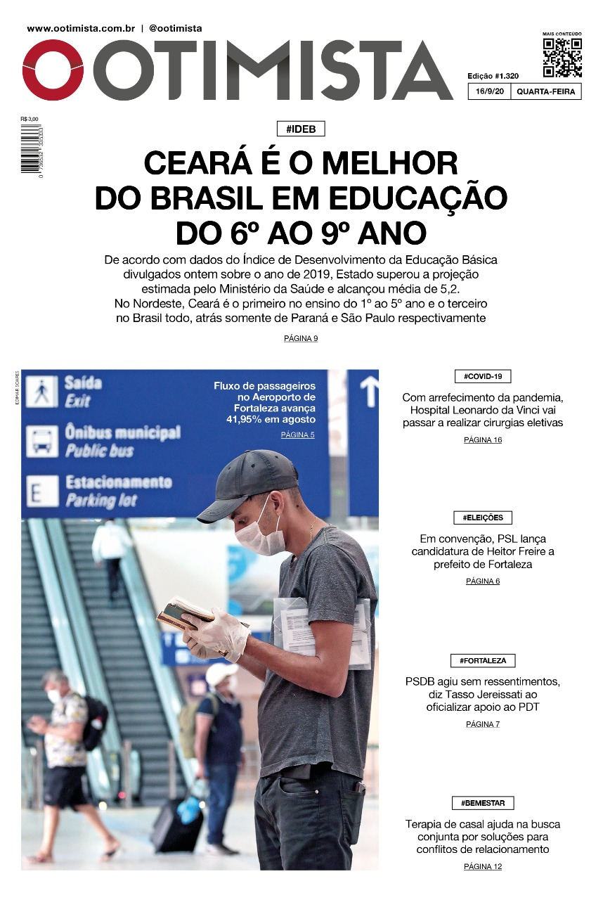 O Otimista - Edição impressa de 16/09/2020