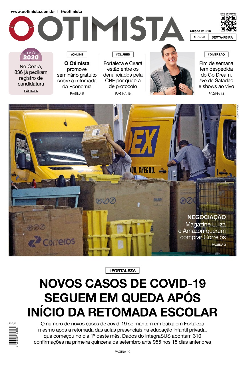 O Otimista - Edição impressa de 18/09/2020