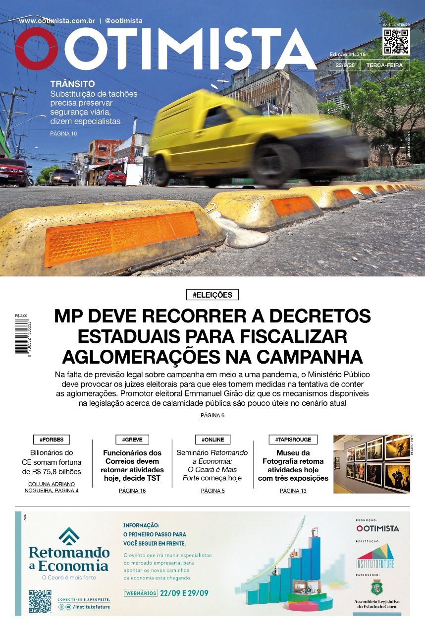 O Otimista - Edição impressa de 22/09/2020
