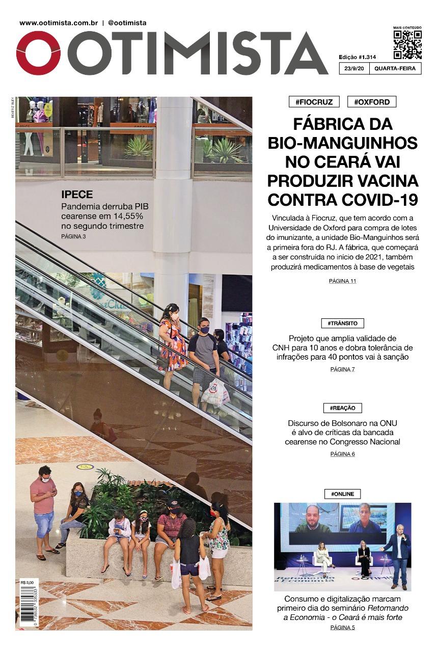 O Otimista - edição impressa de 23/09/2020