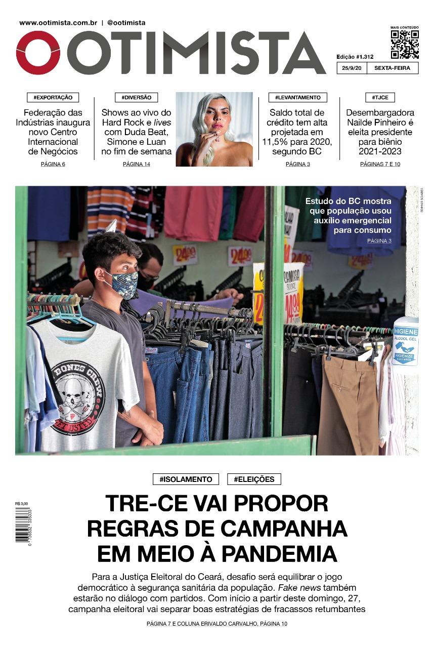 O Otimista - Edição impressa de 25/09/2020