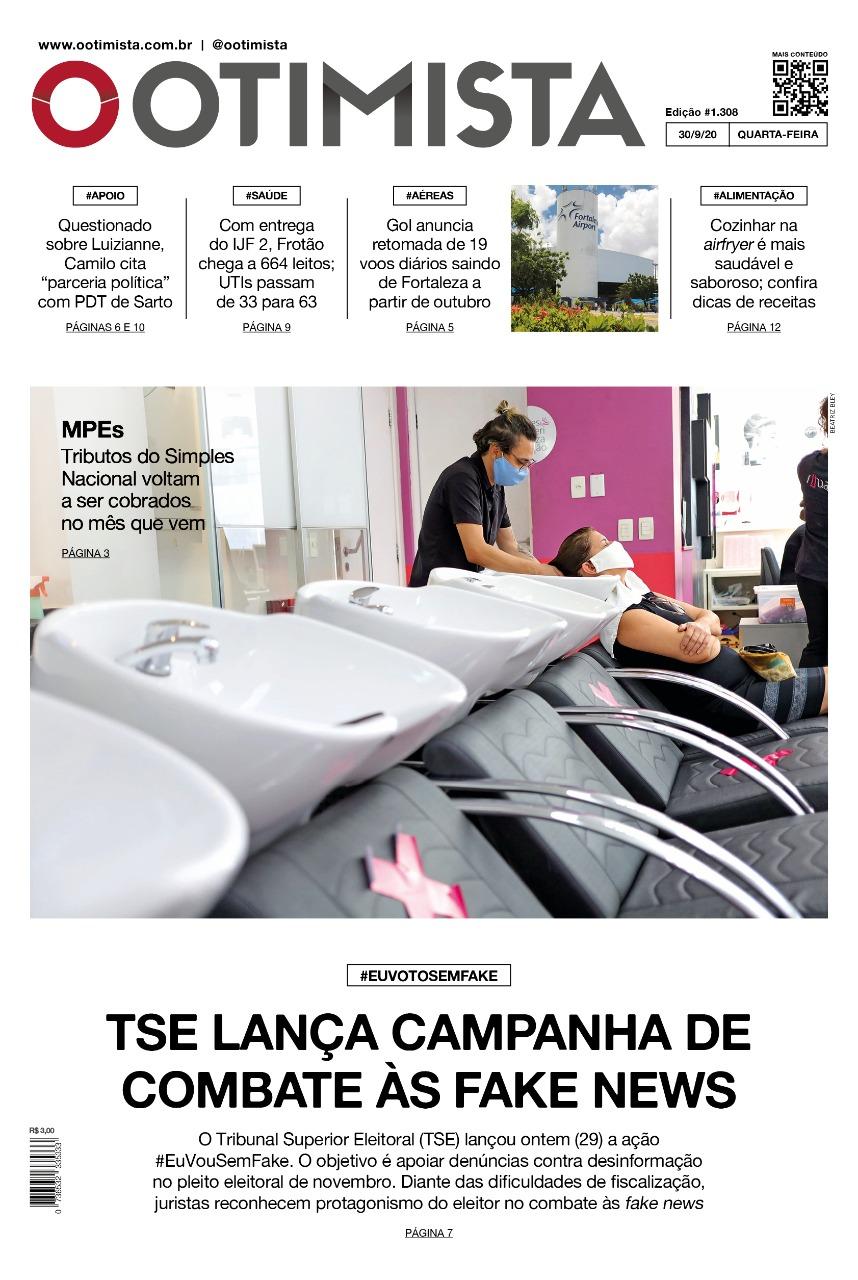 O Otimista - Edição impressa de 30/09/2020