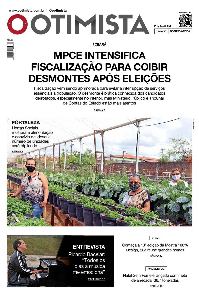 O Otimista - edição impressa de 19/10/2020