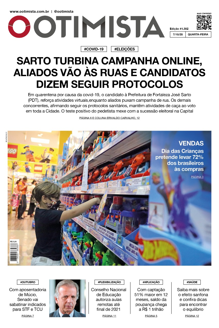 O Otimista - Edição impressa de 07/10/2020