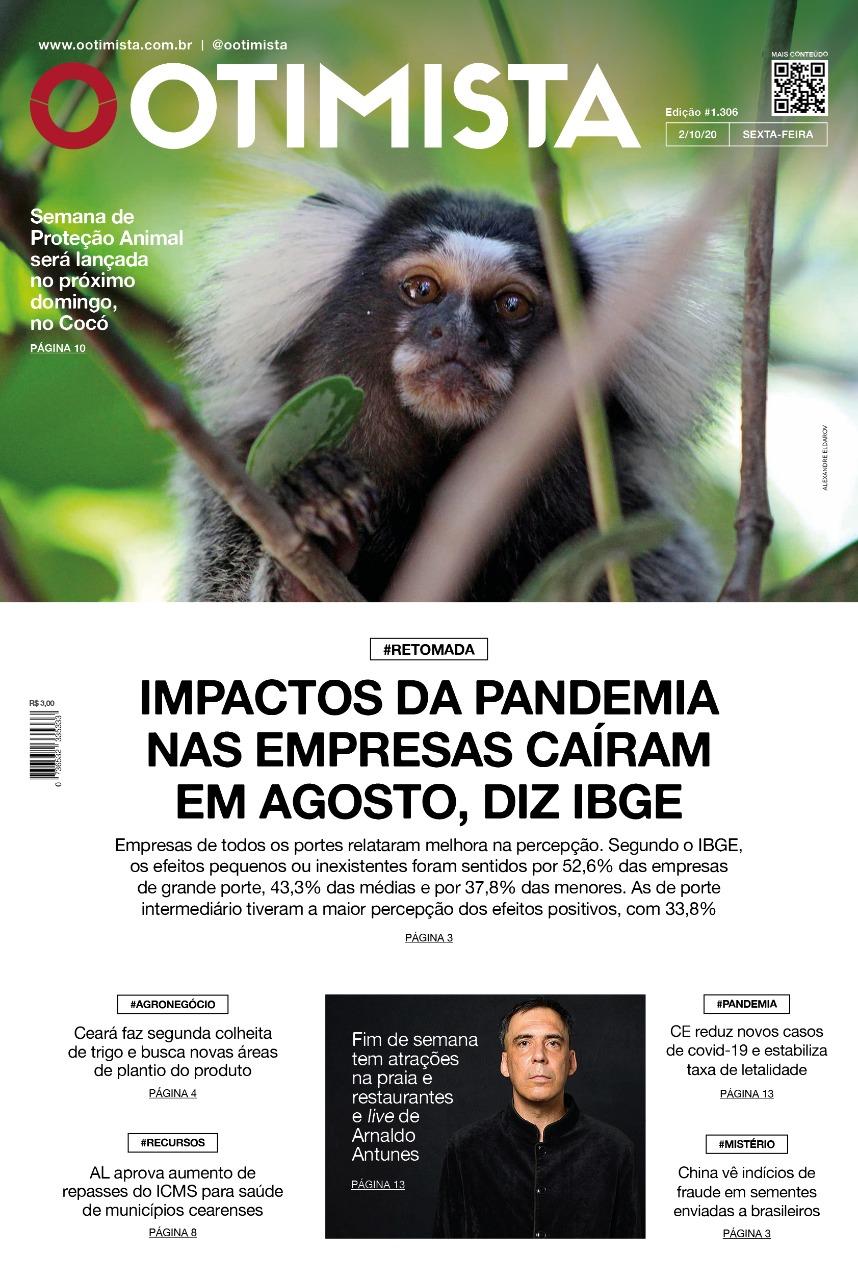 O Otimista - Edição impressa de 02/10/2020