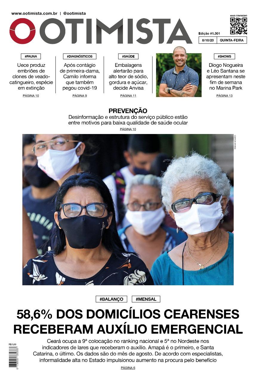 O Otimista - Edição impressa de 08/10/2020
