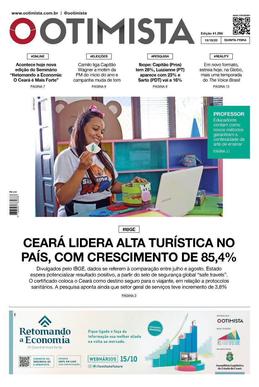 O Otimista - Edição impressa de 15/10/2020