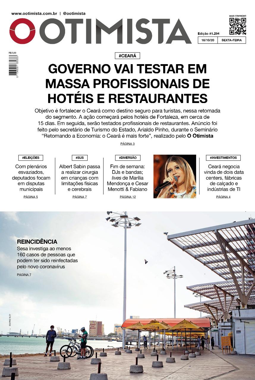 O Otimista - Edição impressa de 16/10/2020