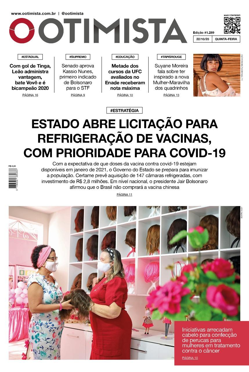 O Otimista - Edição impressa de 22/10/2020