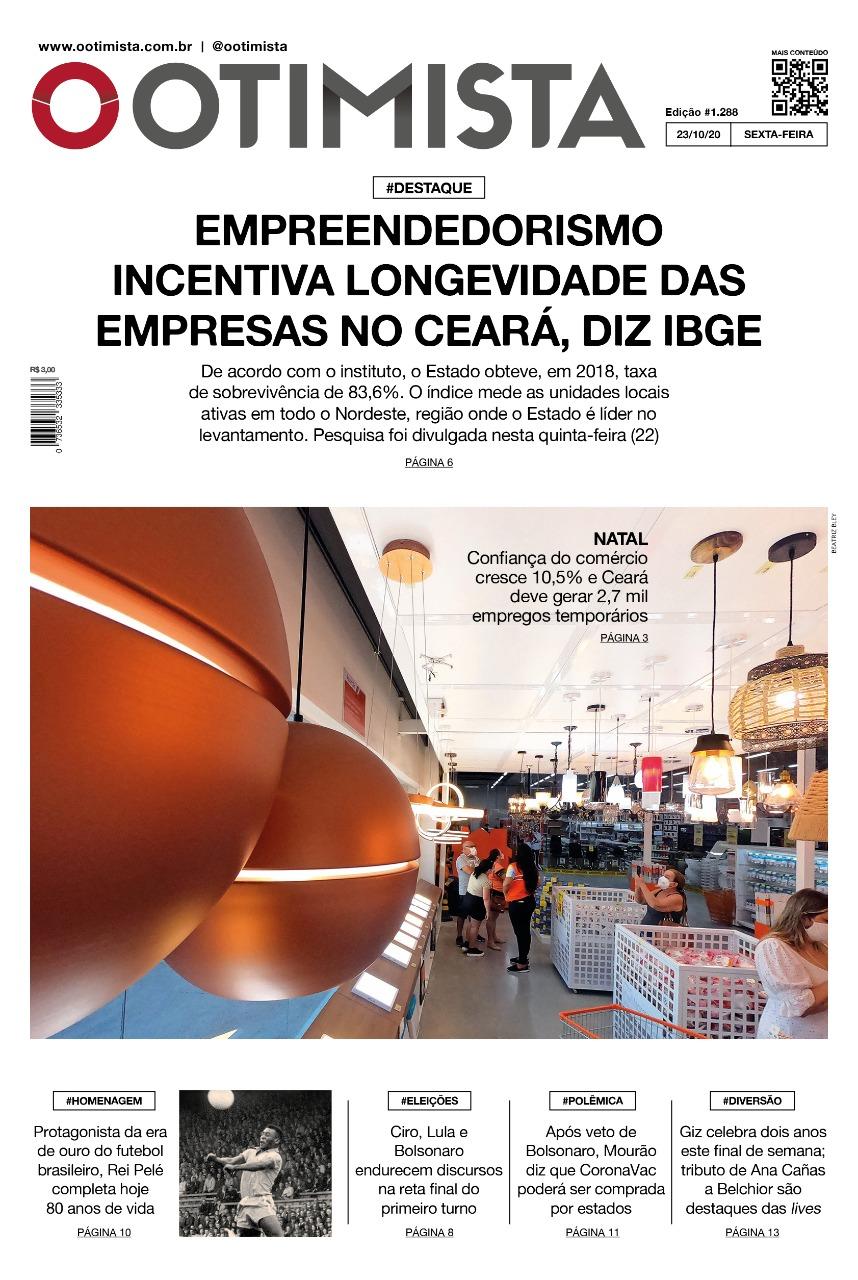 O Otimista - Edição impressa de 23/10/2020