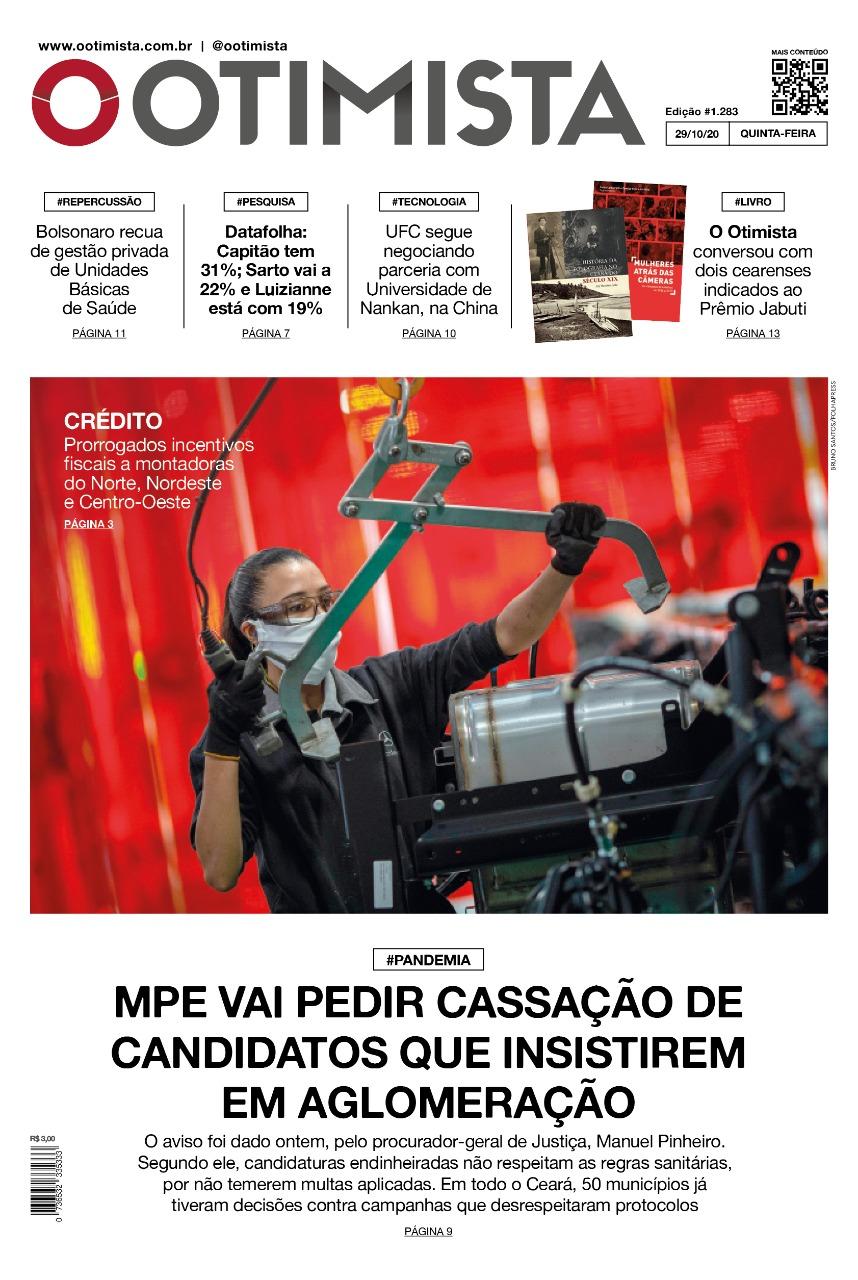 O Otimista - Edição impressa de 29/10/2020