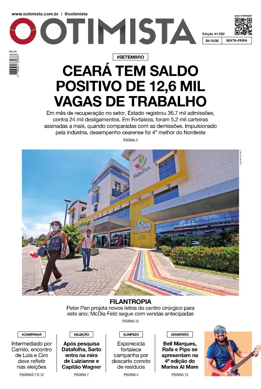 O Otimista - Edição impressa de 30/10/2020