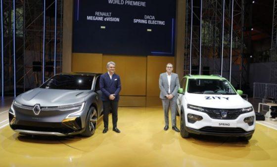 Renault lança internacionalmente os elétricos Mégane eVision e Spring