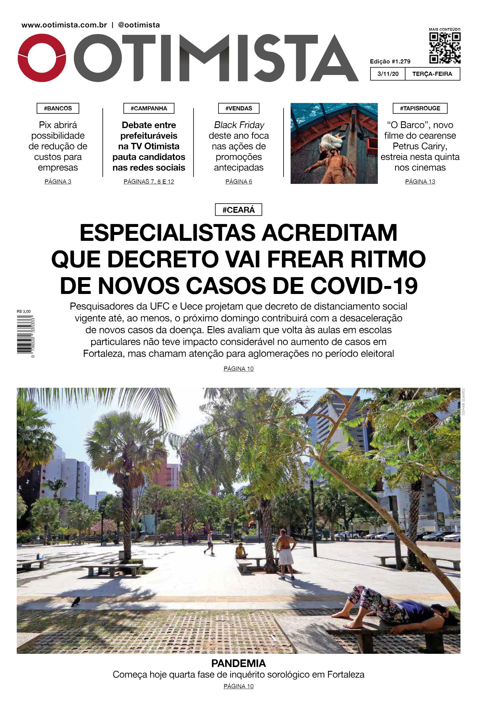 O Otimista – Edição impressa de 03/11/2020