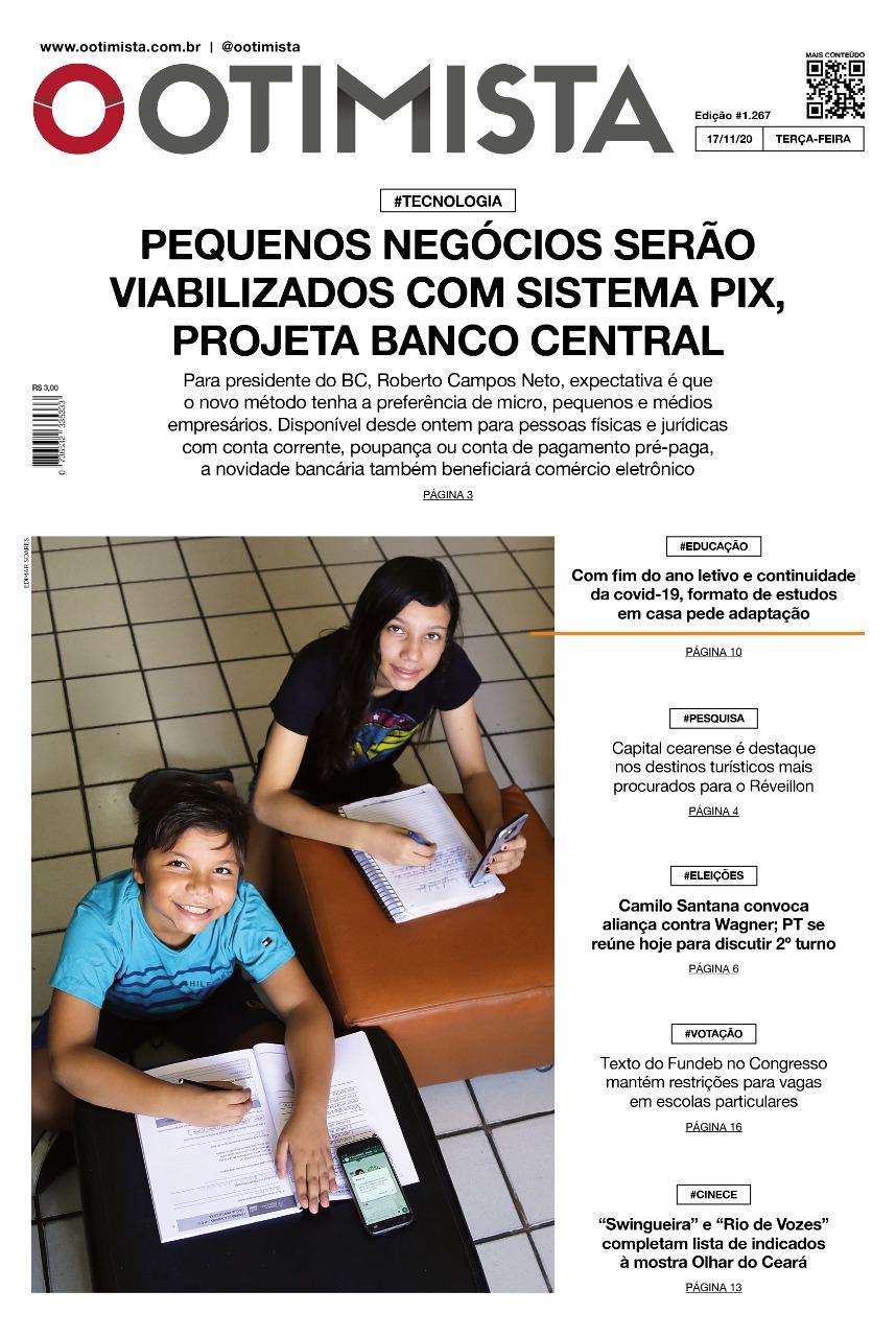 O Otimista - Edição impressa de 17/11/2020