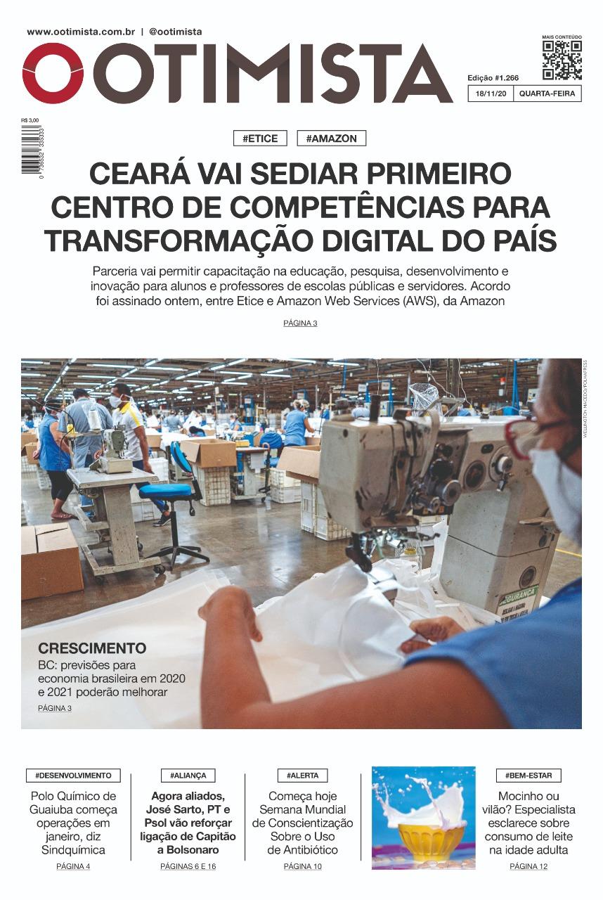 O Otimista - Edição impressa de 18/11/2020