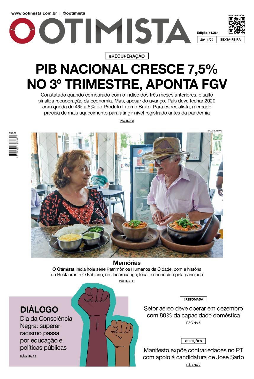 O Otimista - Edição impressa de 20/11/2020