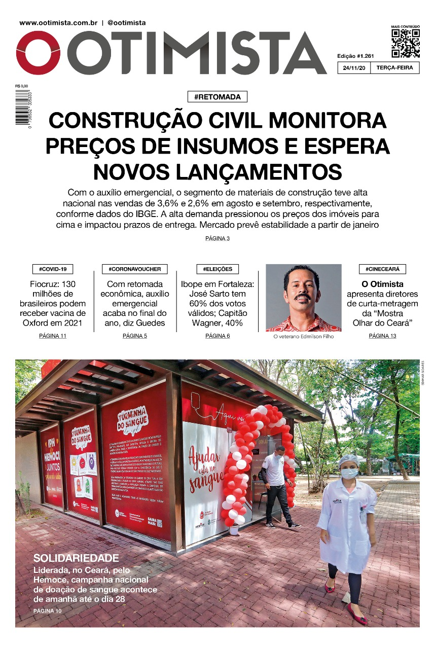 O Otimista - Edição impressa de 24/11/2020