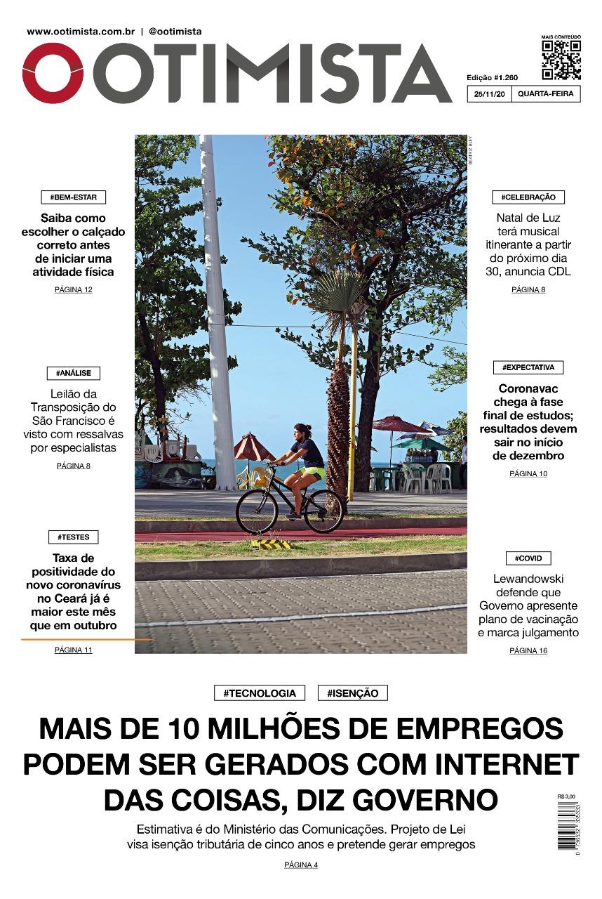 O Otimista - Edição impressa de 25/11/2020