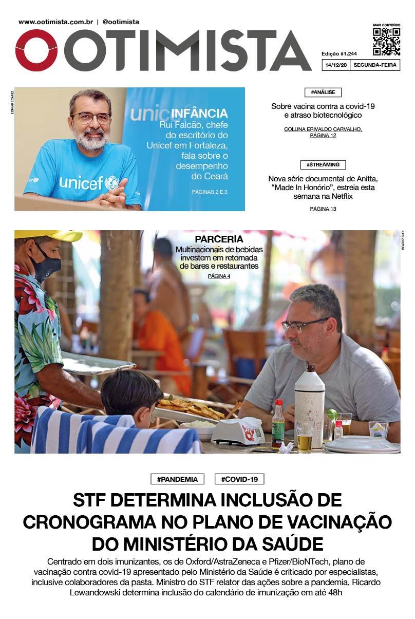 O Otimista - edição impressa de 14/12/2020