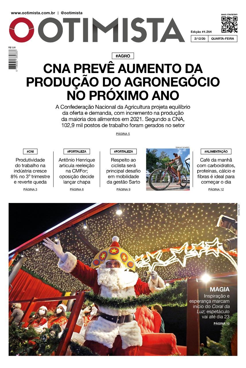 O Otimista - Edição impressa de 02/12/2020