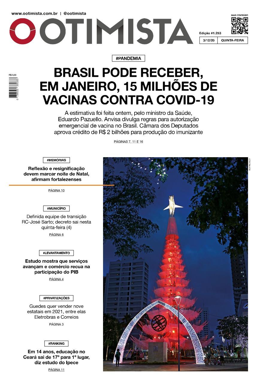 O Otimista - Edição impressa de 03/12/2020