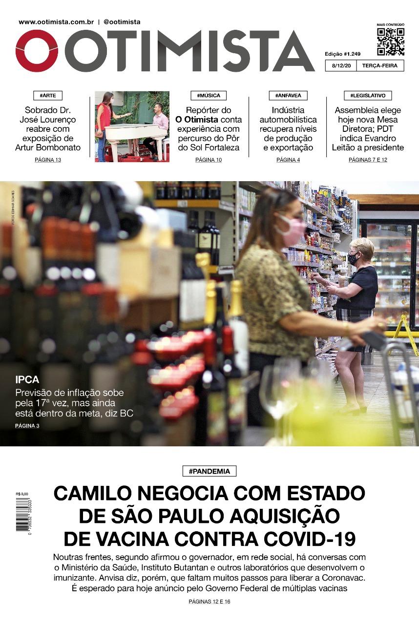 O Otimista - Edição impressa de 08/12/2020