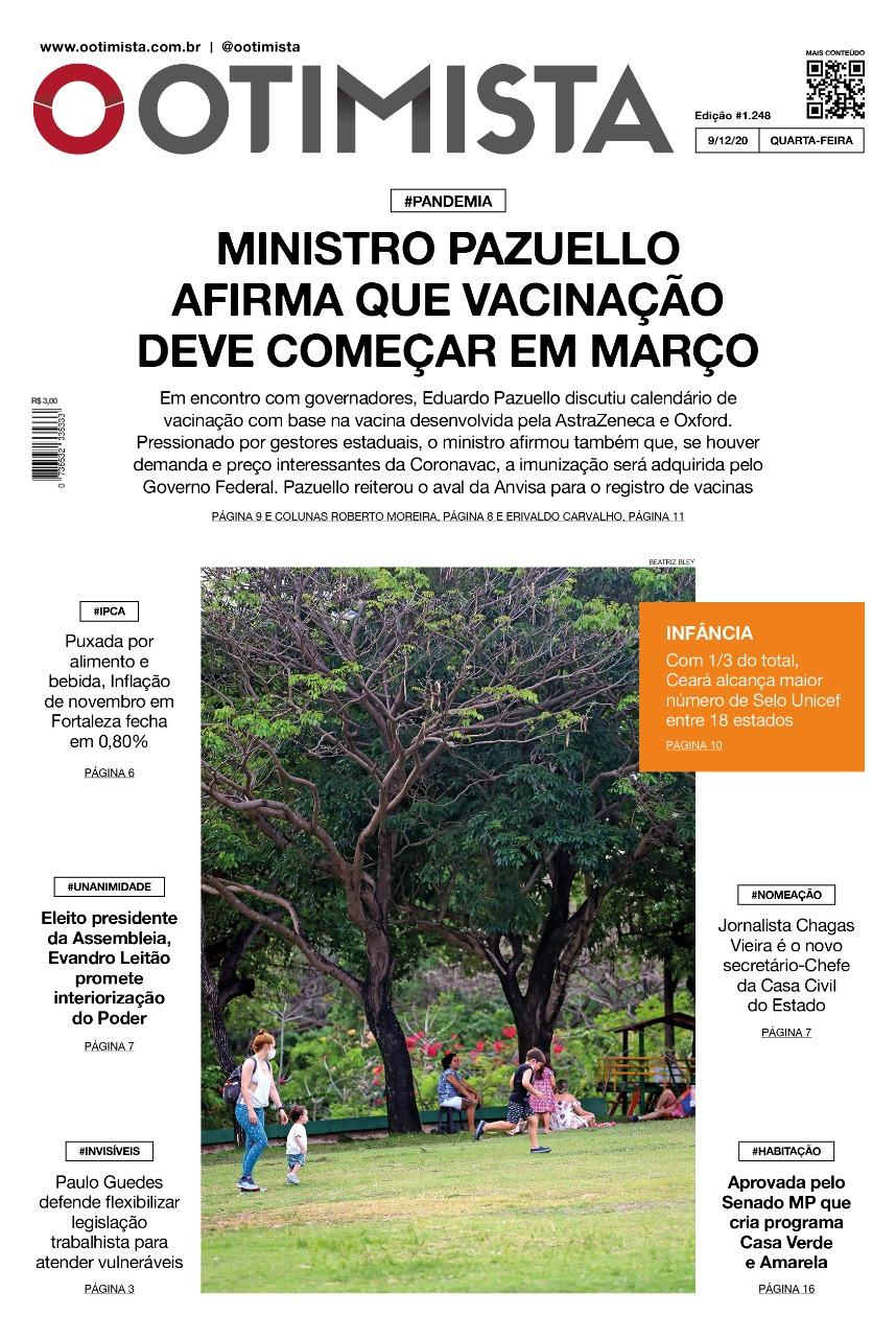 O Otimista - Edição impressa de 09/12/2020