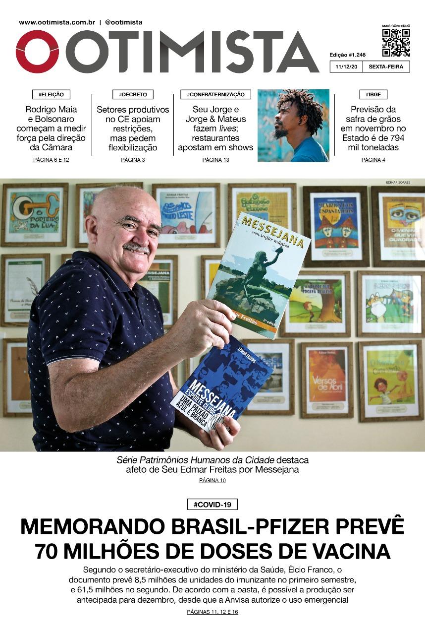 O Otimista - Edição impressa de 11/12/2020
