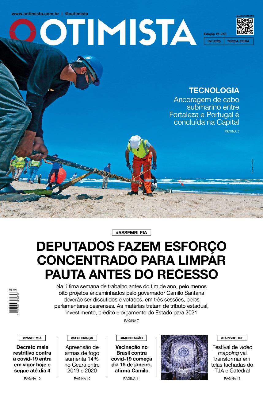 O Otimista - Edição impressa de 15/12/2020
