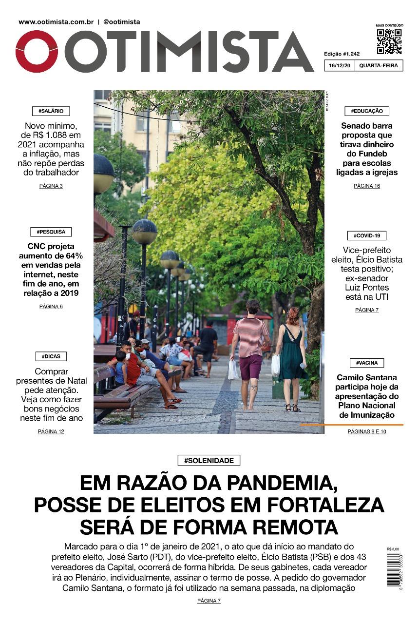O Otimista - Edição impressa de 16/12/2020