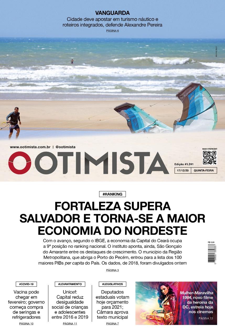 O Otimista - Edição impressa de 17/12/2020