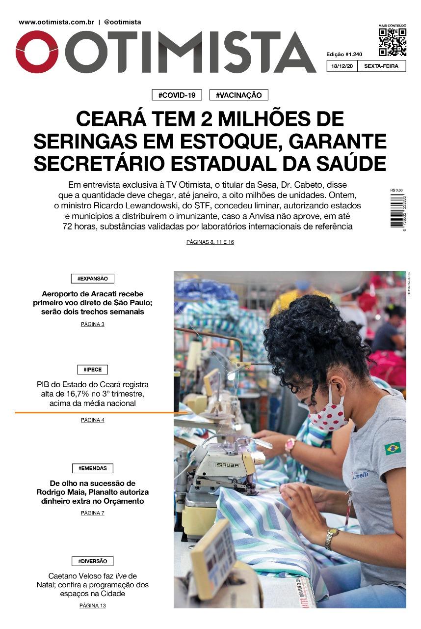 O Otimista - Edição impressa de 18/12/2020