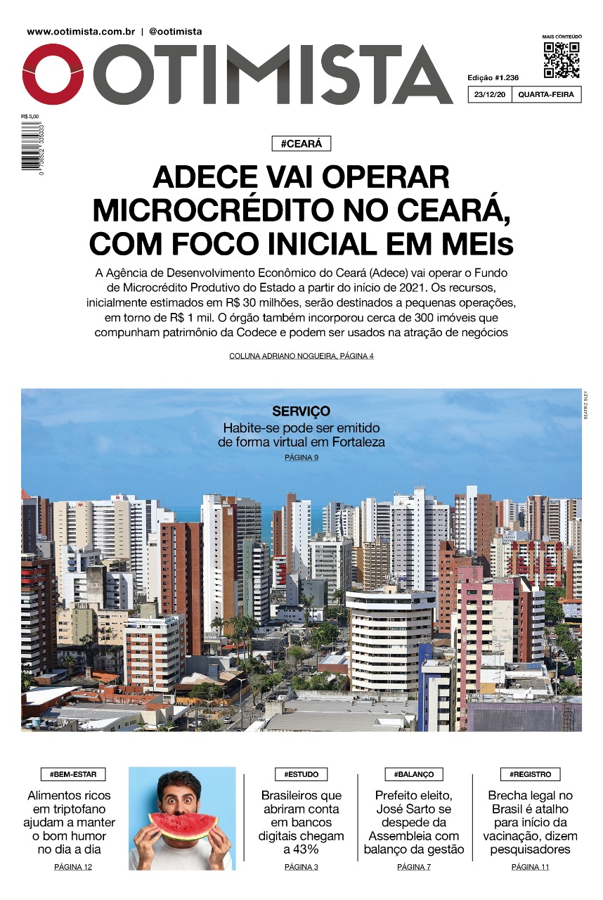 O Otimista - Edição impressa 23/12/2020