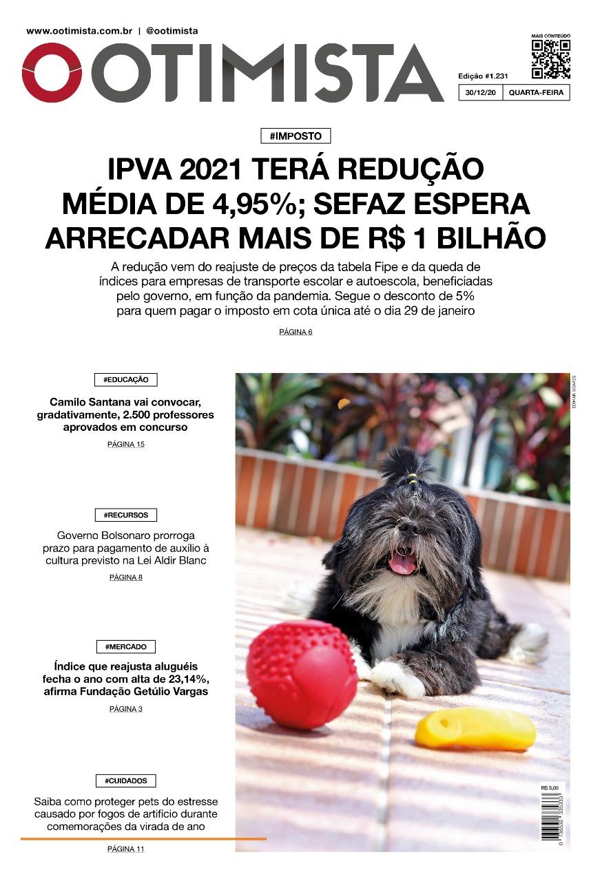 O Otimista - Edição impressa de 30/12/2020