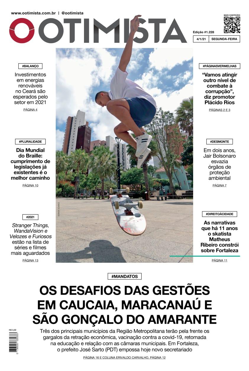 O Otimista - edição impressa de 4/1/2021