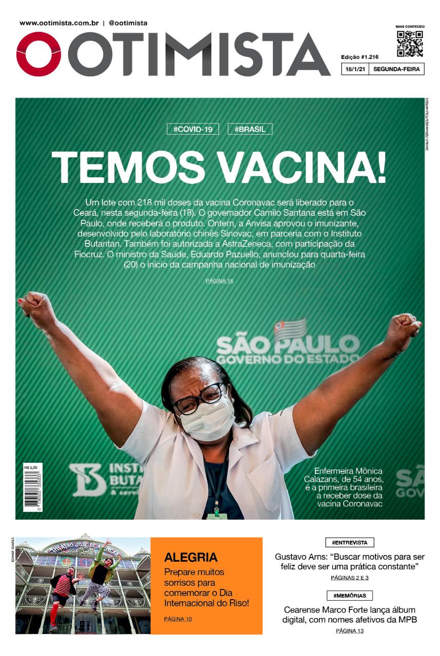 O Otimista - edição impressa de 18/1/2021