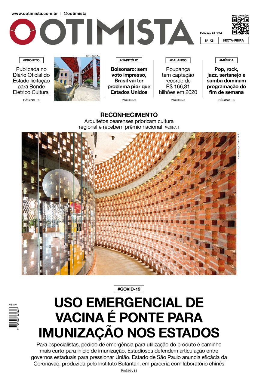 O Otimista - Edição impressa de 08/01/2021