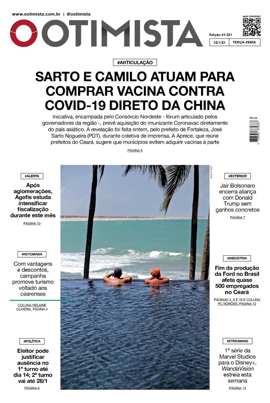 O Otimista - Edição impressa de 12/01/2021