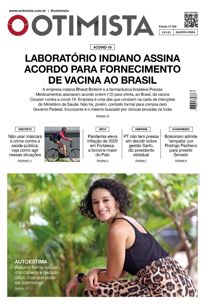 O Otimista - Edição impressa de 13/01/2021