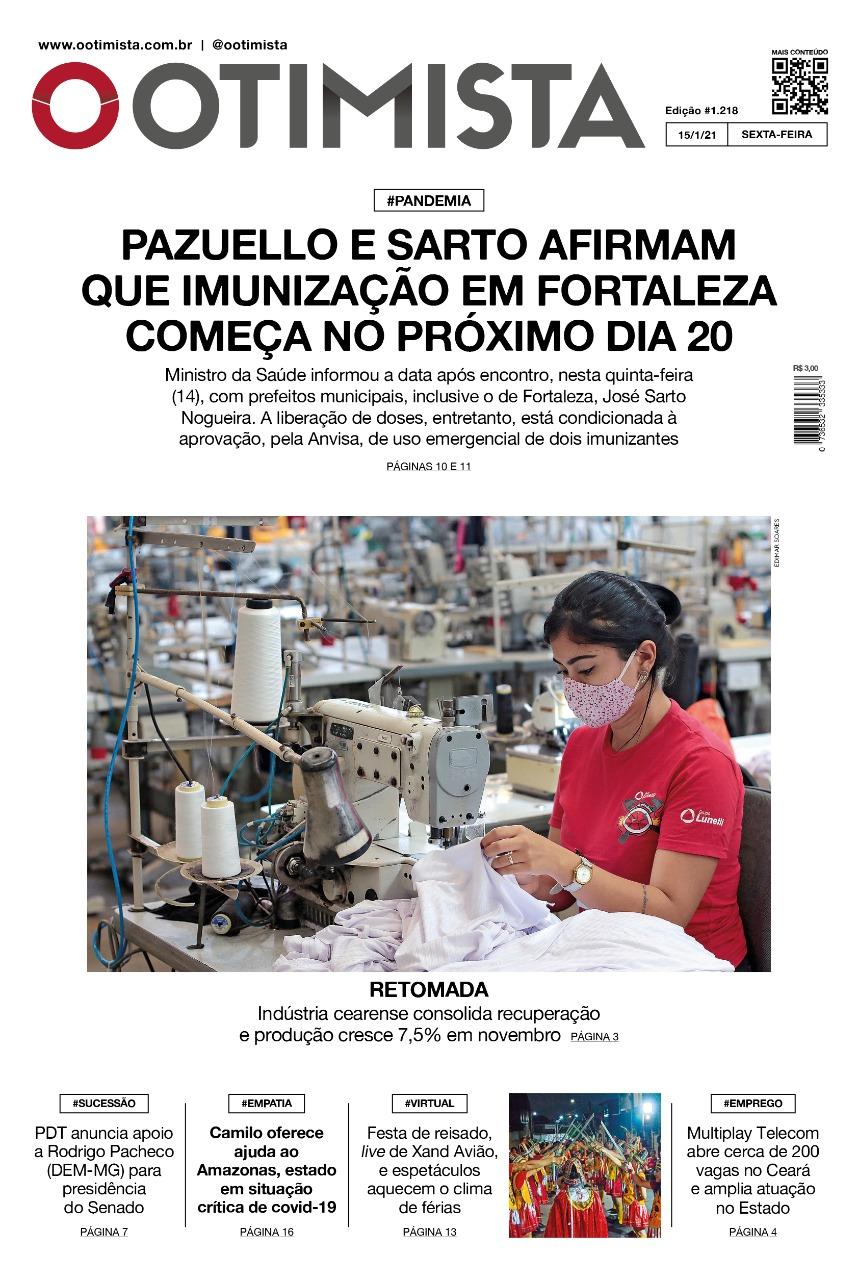 O Otimista - Edição impressa de 15/01/2021