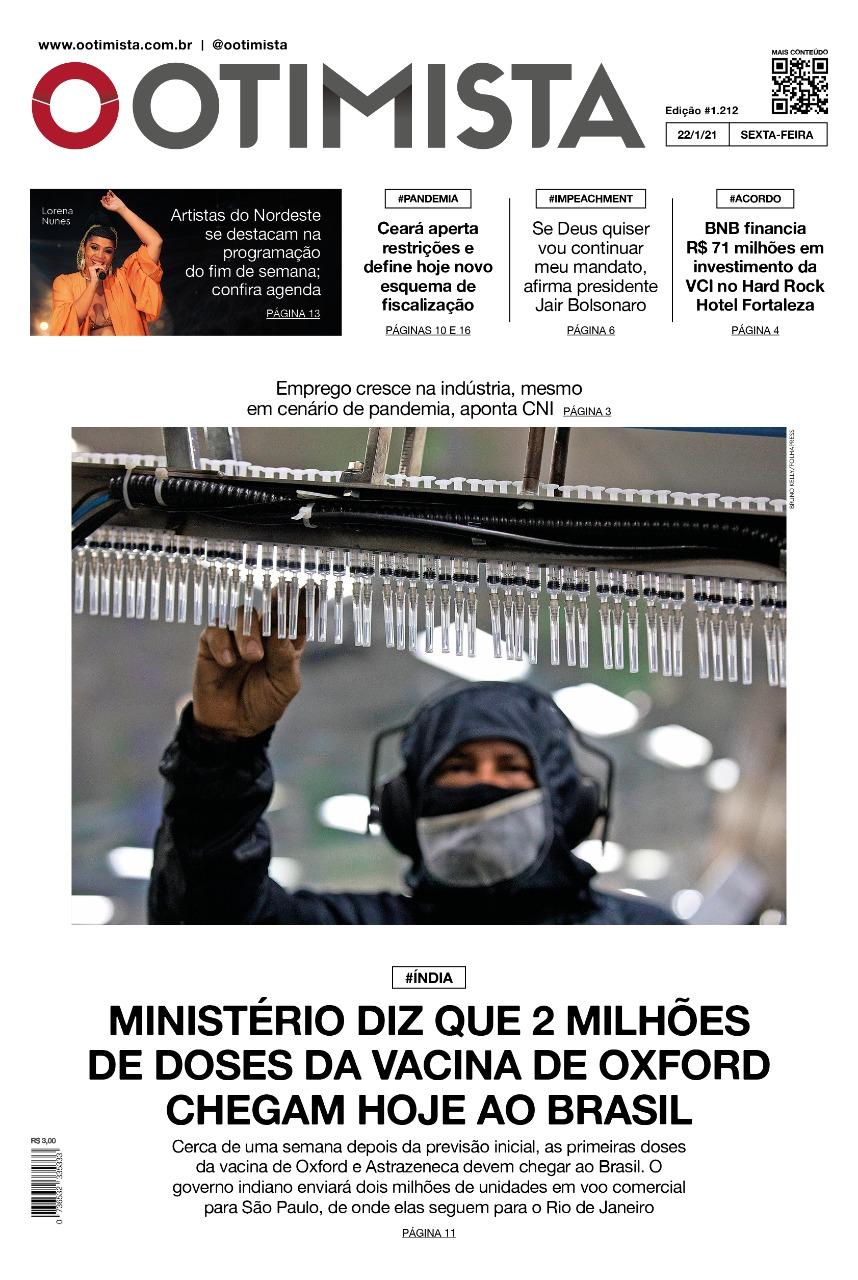 O Otimista - Edição impressa de 22/01/2021