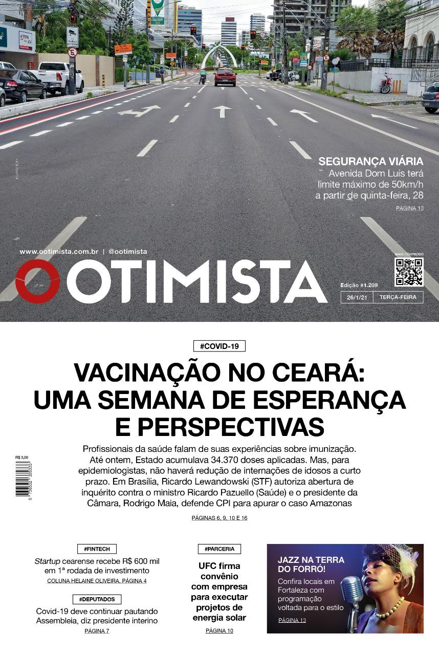 O Otimista - Edição impressa de 26/01/2021