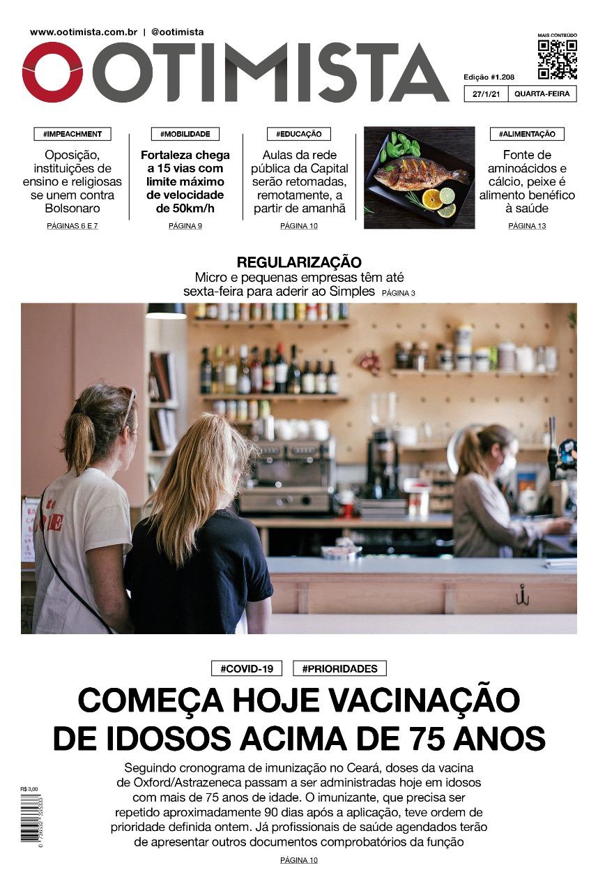 O Otimista - Edição impressa de 27/01/2021