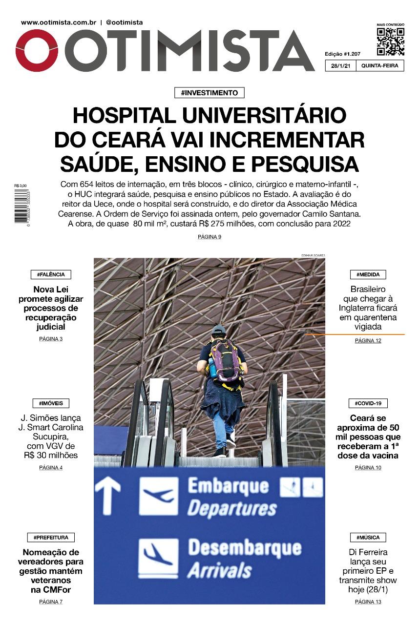 O Otimista - Edição impressa de 28/01/2021