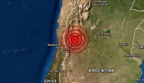 Argentina registra terremoto de magnitude 6.8 perto da cidade de San Juan