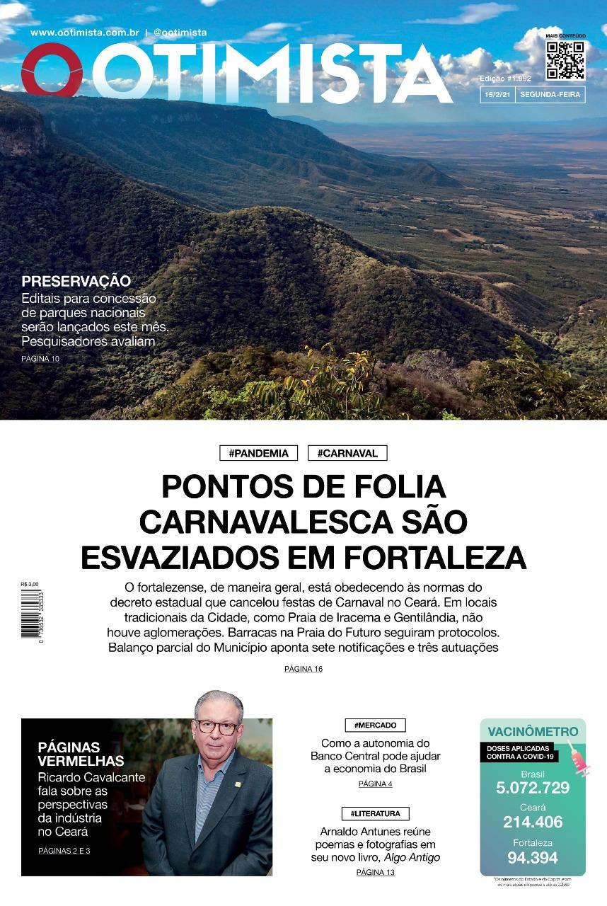 O Otimista - edição impressa de 15/2/2021