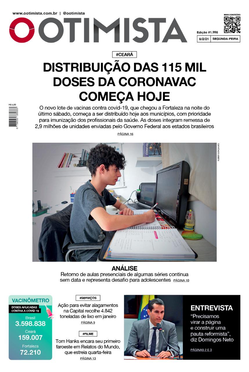 O Otimista - edição impressa de 8/2/2021