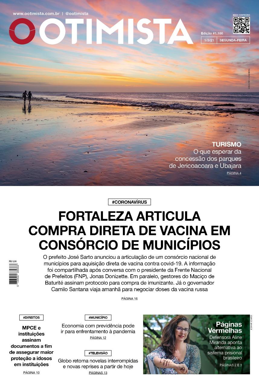 O Otimista - edição impressa de 1/3/2021