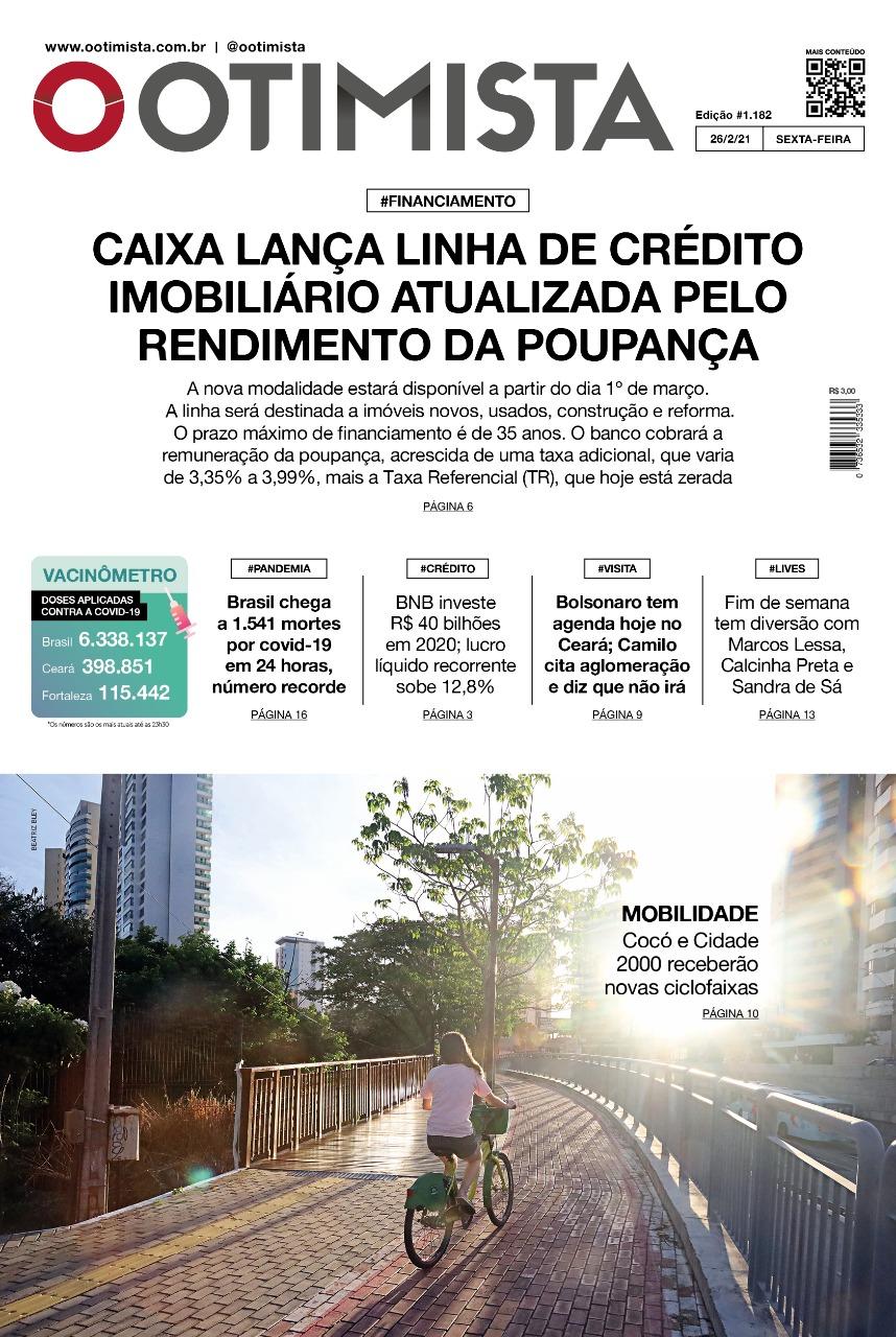 O Otimista - Edição impressa de 26/02/2021